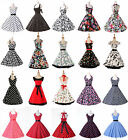 FREE SHIP NEW CLASSY VINTAGE 1950's ROCKABILLY PINUP SWING EVENING FLARED DRESS