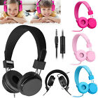 Wired Over Ear Headphone Headband Kids Girl Boy Earphone W/ Mic for iPad/Tablet