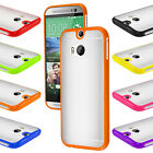 New Bumper Matte Clear PC+ TPU Back Case TPU Cover For HTC One M8 2014 Free