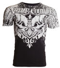 Xtreme Couture AFFLICTION Mens T-Shirt LEGENDARY Skulls BLACK Biker MMA $40 image