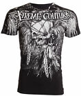 Xtreme Couture AFFLICTION Men T-Shirt JUSTICE Skull Tattoo Biker Gym $40 image