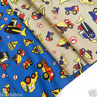 "per 1/2 metre Dig em up Dave tractors  fabric 44""(112cm) wide 100% cotton"