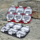 Mini Waterproof Fishing Tackle Box Storage Case Hooks Boxes with 6 Compartments