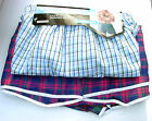 3 Pair Pack Men Cotton Rich Woven Striped or Checked Boxer Shorts 4 Sizes