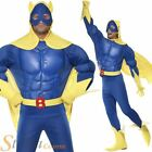 Costume Homme Bananaman Deluxe Poitrine Muscles Apparents Superhéros