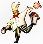"6-9"" FAT ITALIAN CHEF KITCHEN WALL SAFE STICKER CHARACTER BORDER CUTOUT"