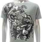 a72g Artful T-shirt M L XL  XXL Tattoo Japanese Fish Carp Koi Casual Men Guy bmx