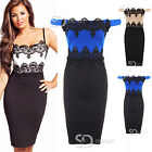 AG66 Ladies Celebrity Jessica Wright Floral Lace Bodycon Womens Midi Dress