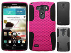 For LG G3 MESH Hybrid Hard Silicone Rubber Skin Case Phone Cover Accessory