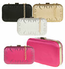 Beaded Shimmering Hard Case Clutch Bag Women Fashion Prom Events