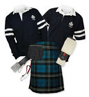 Sports Kit Premium 8yd Kilt Outfit - 2-Stripe Rugby Top - Ramsay Blue