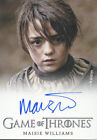 Arya Stark Maisie Williams Game of Thrones 3 Autograph Trading Card Auto TV