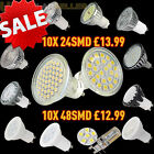 4 10 20 x LED Bulbs GU10/MR16 4/5/6/8W SMD High Power Spot Light Day/Warm White