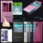 Flip PU Leather Magnetic View Window Case Cover for Samsung Galaxy S5 S V i9600