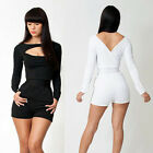 2014 Front Open Sexy Women Celeb Playsuit Party Jumper Casual Jumpsuit Club wear