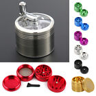 Herb Grinder, 40mm 4Part Aluminium Metal Herb/Spice Pollinator Grinder 7 Colours