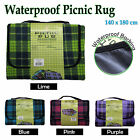WATERPROOF Large Picnic Rug 140cm x 180cm - PINK PURPLE BLUE GREEN