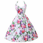 US SHIP LA Location Rockabilly Housewife Vintage Floral Evening Party Prom Dress