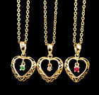 Cute Fashion Designer Inspired Women's Sweet Heart Charm Gold Chain Necklace N83