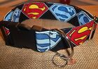 1 1/2 inch wide Superman Dog Collar custom made adjustable Super Hero buckle