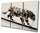 Banksy Street Tagger TREBLE CANVAS WALL ART Picture Print VA