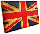 Abstract Union Jack Maps Flags SINGLE CANVAS WALL ART Picture Print VA