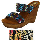 Sbicca Legend Women's Wedge Sandals Shoes Wooden Cork