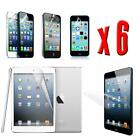 6 x Crystal Clear LCD Screen Protector Cover Guard Shield For Apple Devices