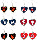 heart earring dangle charm MLB PICK YOUR TEAM on Ebay