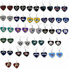 NFL heart dangle earrings pick your team $7.49 USD on eBay