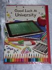 UNIVERSITY CARD GOOD LUCK NEW SCHOOL DEGREE CUTE TRADITIONAL STUDY STARTING