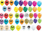 """10 Small 5"""" Inch Qualatex Printed Modelling Balloons Party Decorations 11 design"""