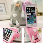 3D Cute Bunny Rabbit Pattern Silicone Soft Case Cover Skin For Apple iPhone 5 5S