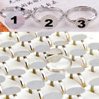20/100X Wholesale Lots Silver Adjustable Rings Bases Blanks Jewelry Finding Pads