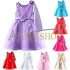 FLOWER WEDDING GIRLS PARTY PAGEANT BRIDESMAID CHRISTENING FORMAL PRINCESS DRESS