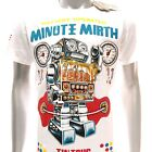 m256w Minute Mirth M L T-shirt Tattoo Skull Tin Toy Robot Graffiti Surf Gangster