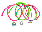 **OPEN PAW** Primary Or Neon Set Macrame Friendship Bracelets (Set of 3) ~~USA