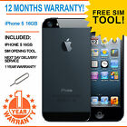 Apple iPhone 5 - 16 GB - Black & Slate EE Orange T-Mobile Virgin Smartphone
