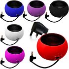 3.5mm PORTABLE MINI CAPSULE SPEAKER+BLACK PLUG FITS HTC DESIRE 300 (XL)
