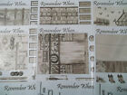 A4 NDC Cardmaking Decoupage Sheet Remember When Nostalgic Sepia Various Designs