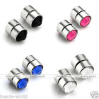 4mm No Piercing Stainless Steel Crystal Fake Magnetic Lip Nose Ear Stud Fashion