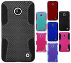 For Nokia Lumia 630 MESH Hybrid Silicone Rubber Skin Case Phone Protector Cover