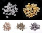200pcs Silver/Gold/Bronze/Copper Tone Metal Flower Shaped Bead For Jewelry,6mm