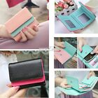 Women Synthetic PU Leather Button Purse Short Handbag Clutch Wallet Bag S0BZ