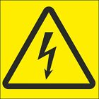 ELECTRICITY SIGN YELLOW BACKING *PACK OF 4* 100x100mm or 50x50mm Sign or Sticker