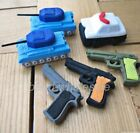Gun and Tank Pencil Eraser Set  Assorted Party Favor Supply Bag Prize