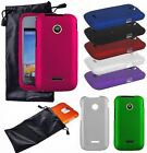 Hard Cover Case + Universal Leather Protect Pouch Accessory For HUAWEI Phones