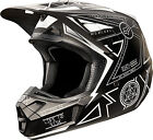 NEW 2015 FOX RACING V2 PRIORI MX DIRTBIKE MOTOCROSS HELMET BLACK/WHITE ALL SIZES