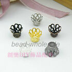 5x6mm,7x9mm Latest Wine Class Flower Bead Caps 6 Colors 200/300pcs