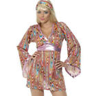 Hippy Hottie Ladies Hippie Fancy Dress 60s-70s Costume 1960s Outfit UK 8-18